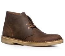 Herren Schuhe Desert Boots Leder dunkelbraun