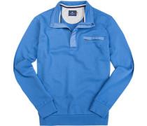 Herren Sweatshirt Baumwolle azurblau