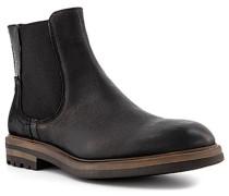 Schuhe Chelsea Boots Leder nero