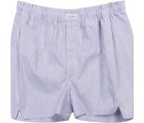 Herren Unterwäsche Boxershorts Baumwolle blau gestreift