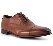 Schuhe Derby Kalbsleder cognac