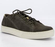 Schuhe Sneaker Veloursleder oliv