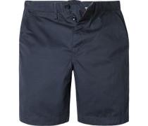 Herren Hose Shorts Baumwolle navy blau