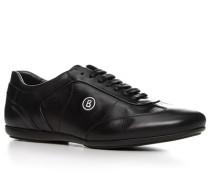 Herren Schuhe Sneaker Leder schwarz schwarz,schwarz