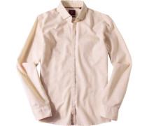 Hemd Slim Fit Baumwolle -weiß gemustert