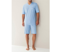 Schlafanzug Pyjama Baumwolljersey hell