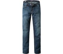 Herren Jeans, Straight Fit, Baumwolle, denim blau