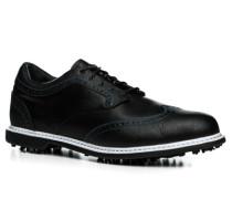 Herren Golfschuhe Leder schwarz