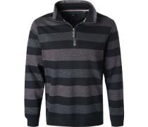 Pullover Troyer, Baumwolle,  gestreift