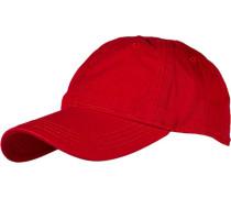 Herren Cap, Baumwolle, rot