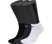 Herren Sneakersocken Baumwolle schwarz-weiß-navy blau,schwarz,weiß