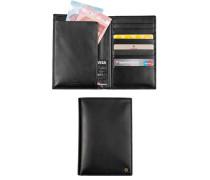 Herren Brieftasche, Kalbleder, schwarz