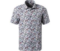 Kurzarmhemd Modern Fit Popeline  gemustert