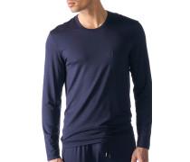 Herren Schlafanzug Longsleeve, Micromodal, nachtblau