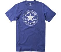 Herren T-Shirt Classic Fit Baumwolle blau