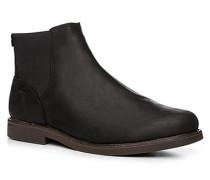 Herren Schuhe Chelsea Boots, Nubukleder, schwarz