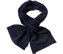 Herren Schal Wolle navy blau