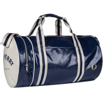 Herren FRED PERRY Sporttasche Lederimitat dunkelblau
