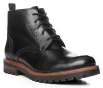 Herren Schuhe Boots Leder schwarz