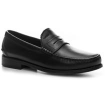 Herren Schuhe Slipper Leder