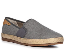 Schuhe Espadrilles, Canvas-Leder, stein