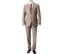 Herren Anzug Shape Fit Schurwolle Super100 Angelico beige meliert