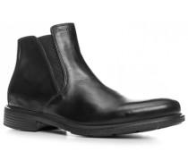 Herren Schuhe Chelsea Boots, Glattleder, schwarz