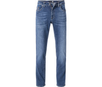 Jeans Modern Fit Baumwoll-Stretch saphir