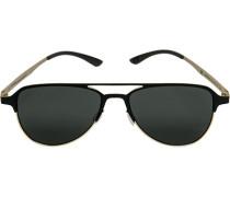 Herren Brillen adidas, Sonnenbrille, Metall, schwarz-gold