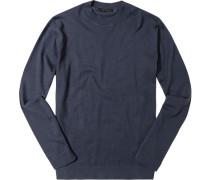 Herren Pullover Baumwolle-Kaschmir dunkelblau
