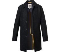 Mantel Rian Wolle halbgefüttert nacht meliert