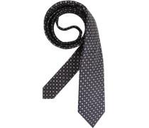 Herren Krawatte  blau,braun,weiß