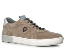 Herren Schuhe Sneaker Leder taupe beige
