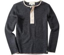 Herren Pullover Wolle anthrazit meliert