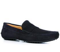 Herren Schuhe Loafers Veloursleder dunkelblau