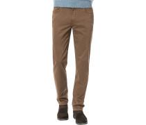 Herren Jeans Seth, Tailored Fit, Baumwoll-Stretch, braun