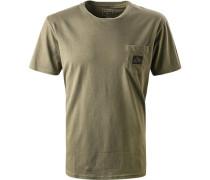 T-Shirt, Regular Fit, Baumwolle, khaki