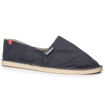 Herren Schuhe Espandrilles, Canvas, navy blau