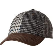 Cap Wolle grau- gemustert