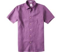 Herren Leinenhemd Modern Fit viola violett