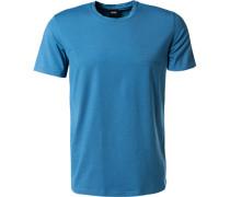 Herren T-Shirt Baumwolle-Modal himmelblau