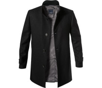 Mantel Wolle nacht meliert