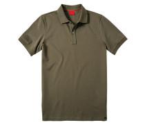 Herren Polo-Shirt Baumwoll-Piqué schlamm