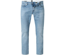 Jeans Slim Fit Baumwoll-Stretch hell