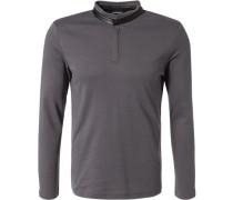 Herren T-Shirt Longsleeve Baumwolle grau