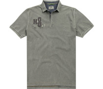 Herren Polo-Shirt, Baumwolle, graugrün