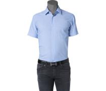 Herren Hemd Leinen-Mix hellblau meliert