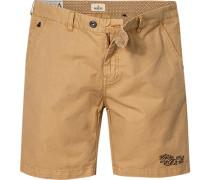 Herren Hose Shorts Baumwolle sand beige