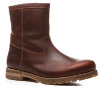 Herren Schuhe Stiefel, Leder wasserdicht, braun
