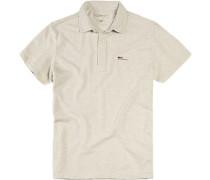 Herren Polo-Shirt Baumwolle ecru